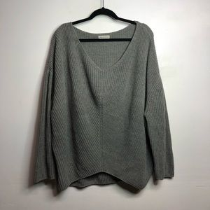 Urban outfitters oversized grey v neck sweater